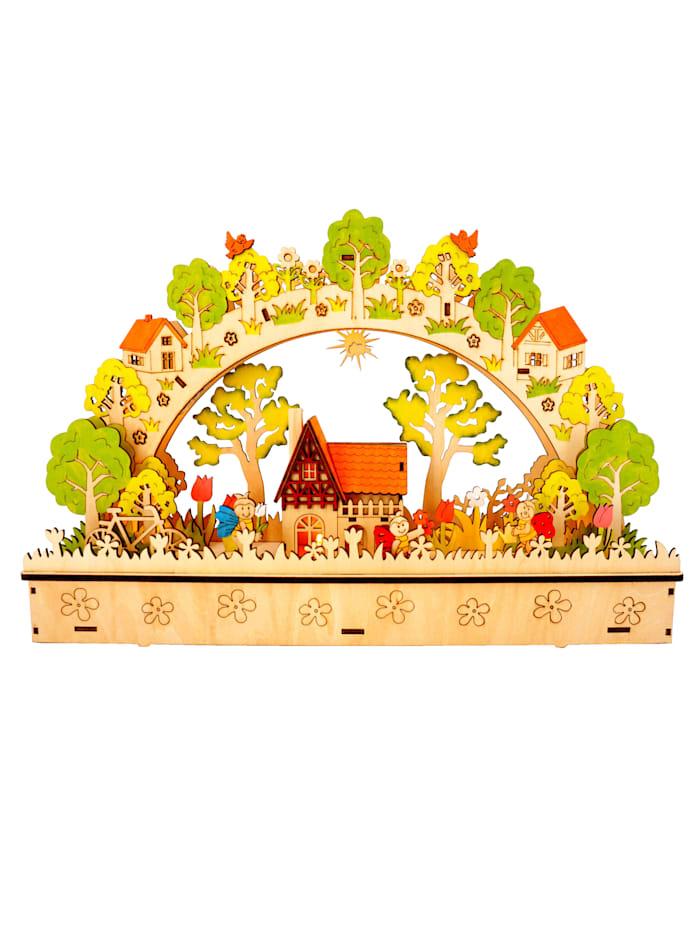 Led-kaarsenboog met muziek Schwartinsky multicolor