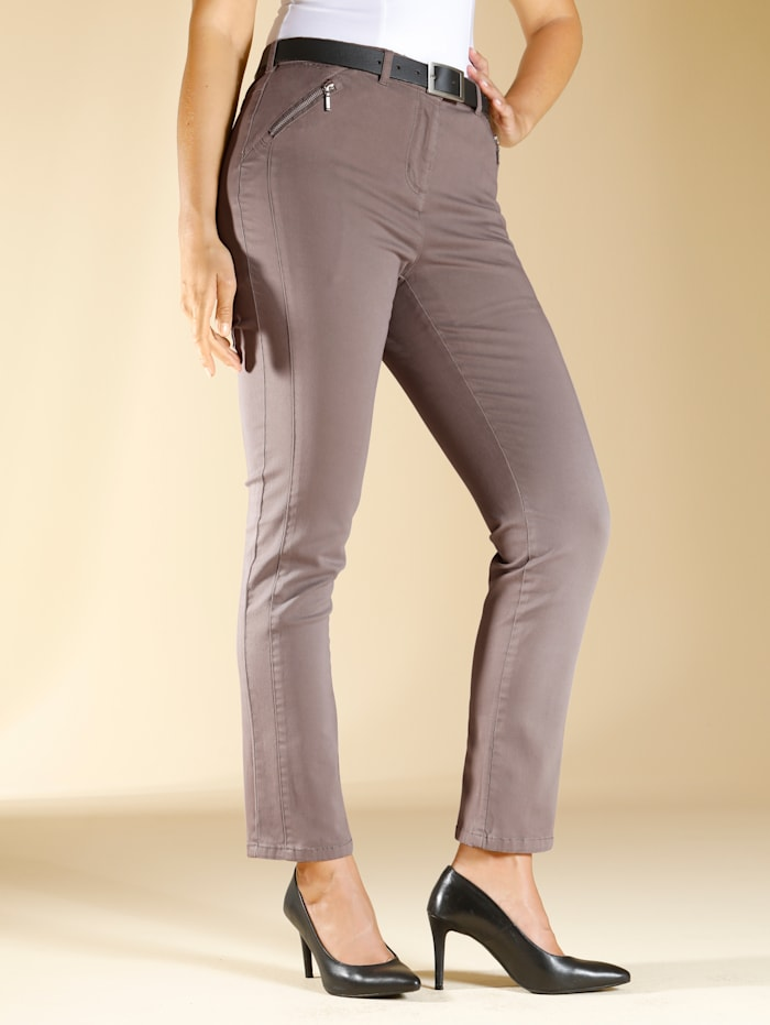 Broek m. collection Taupe