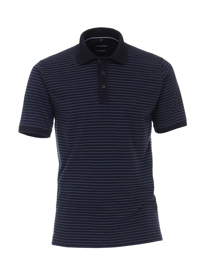 casamoda - Polo-Shirt andere Muster  Dunkelblau