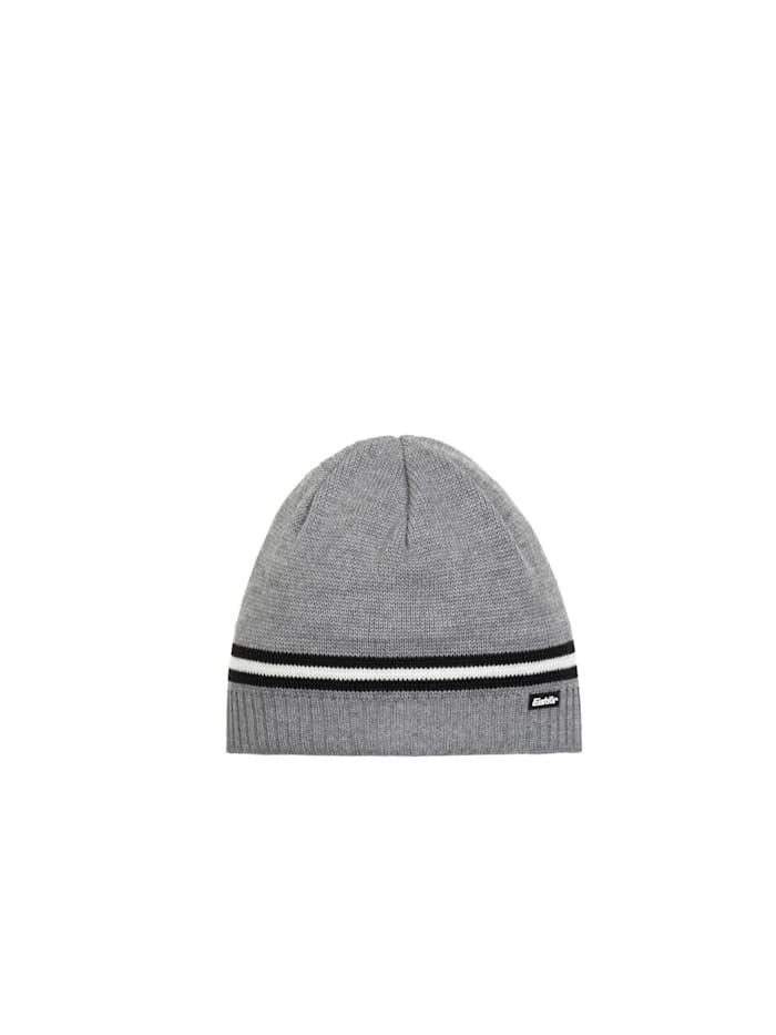 eisbär - Klassische Herrenmütze   graumele-schwarz-white-schwarz