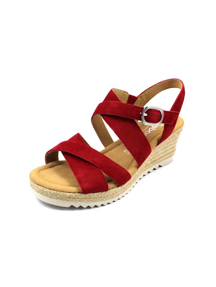 gabor - Sandalen/Sandaletten  rot