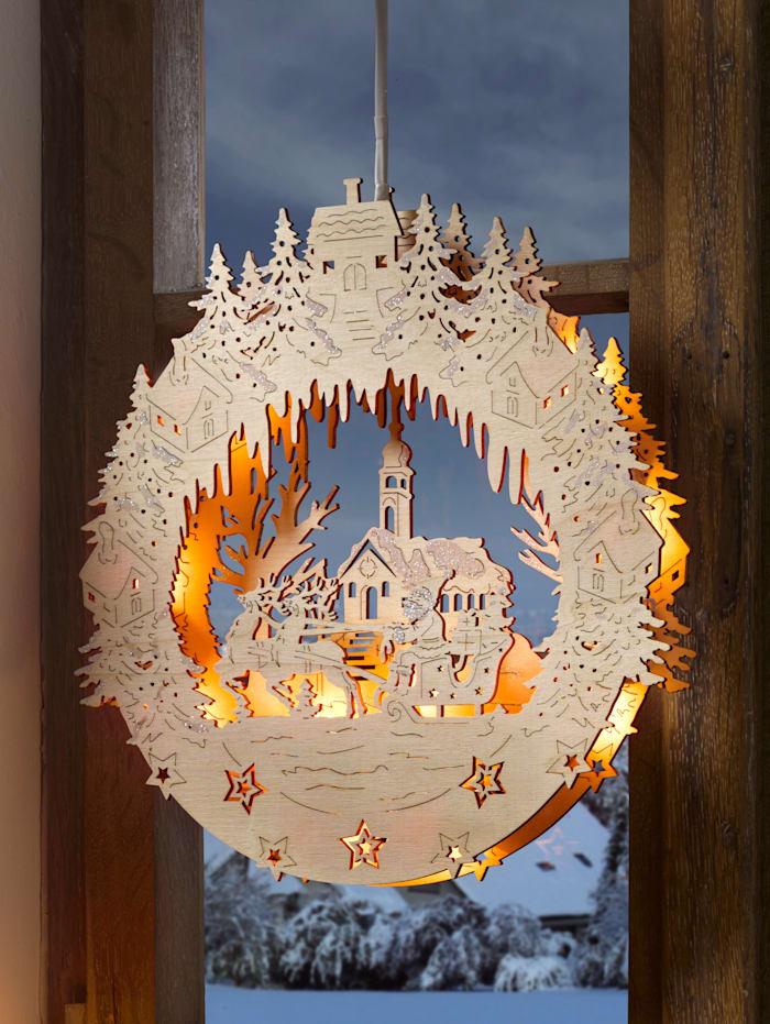 Fensterbild Weihnachten KLiNGEL Natur