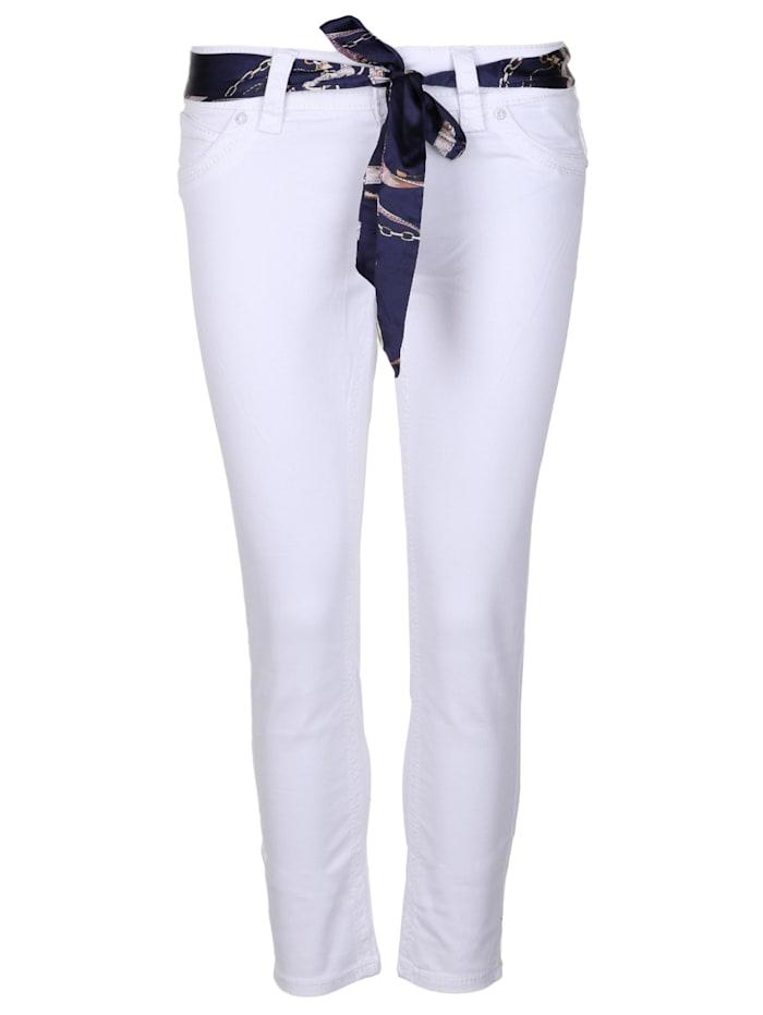blue monkey - 7/8-Jeans CHARLOTTE 30178  white