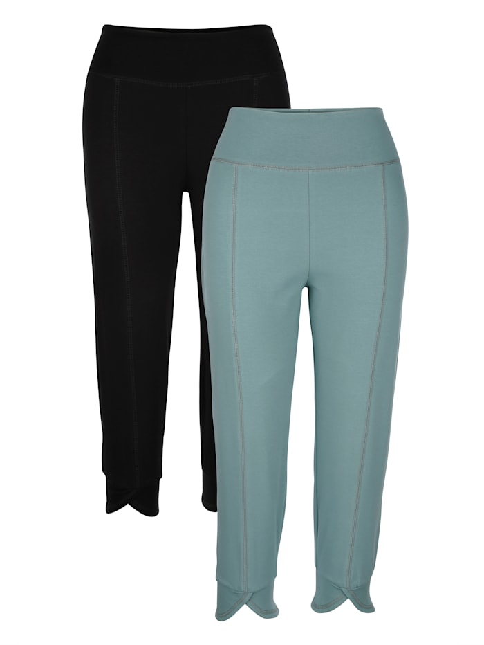 Joggingbroek Blue Moon Turquoise::Zwart