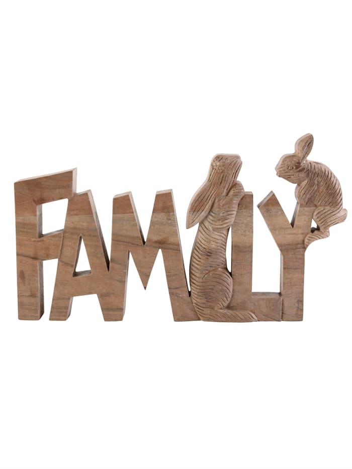 Schriftzug Family Hasen, Impressionen living