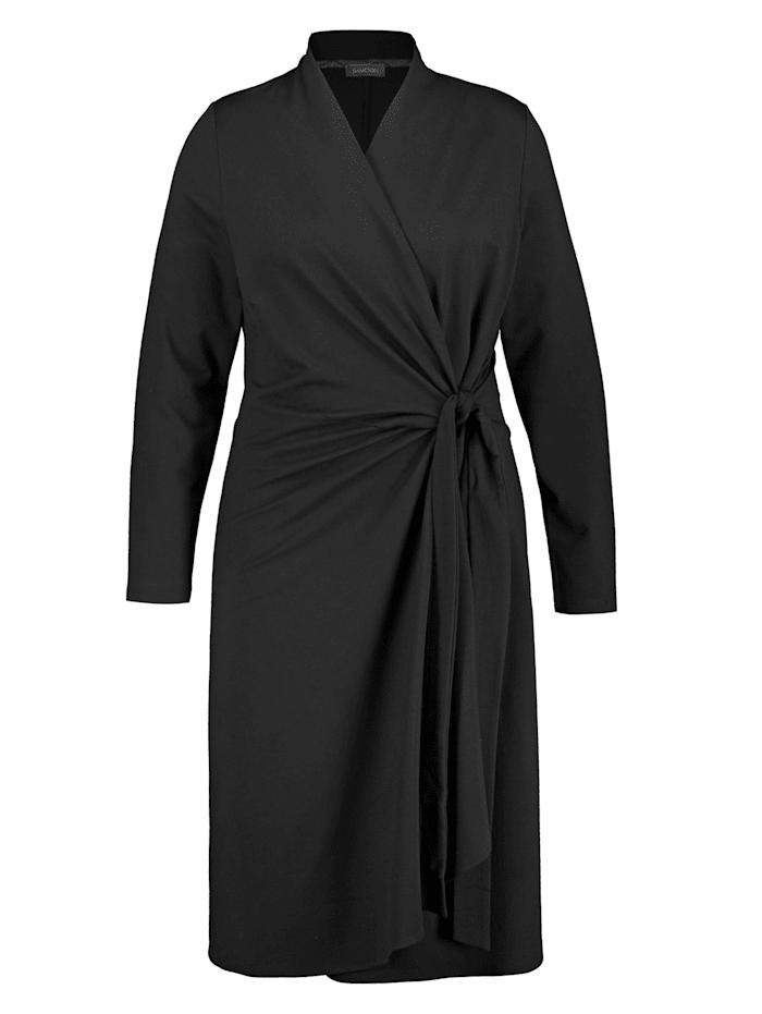 samoon - Kleid mit Wickel-Optik  Black