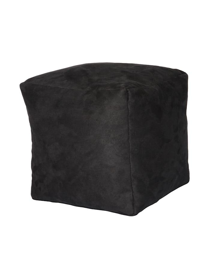 Sitzwürfel Hocker Würfelhocker Einzelhocker uni 40x40x40 cm Linke Licardo anthrazit