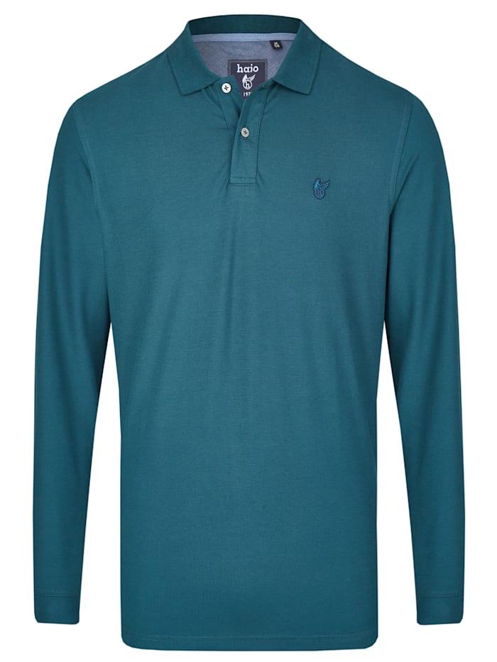 Pikee-Poloshirt in großen Größen Hajo blau-grün