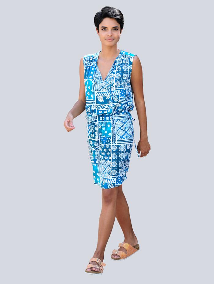 Strandjurk Alba Moda blauw turquoise