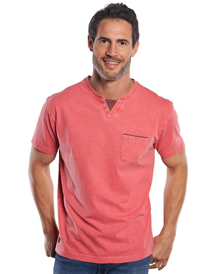 engbers - V-Neck T-Shirt  Lachsrot