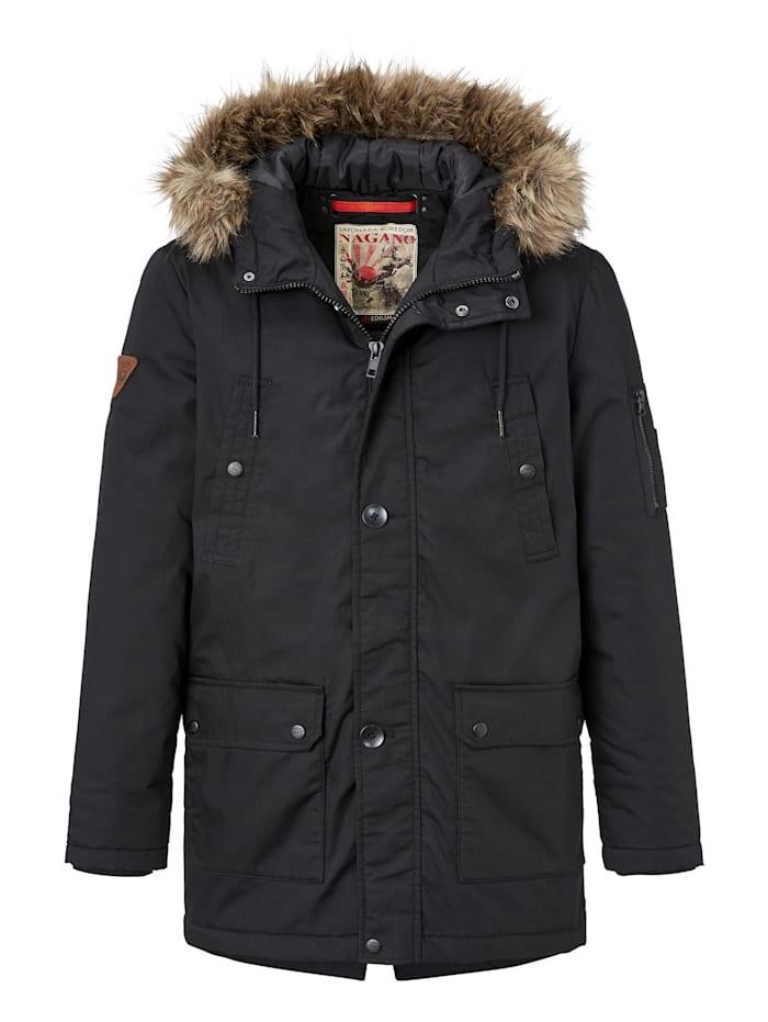 nagano - moderne Winterjacke Odori  black