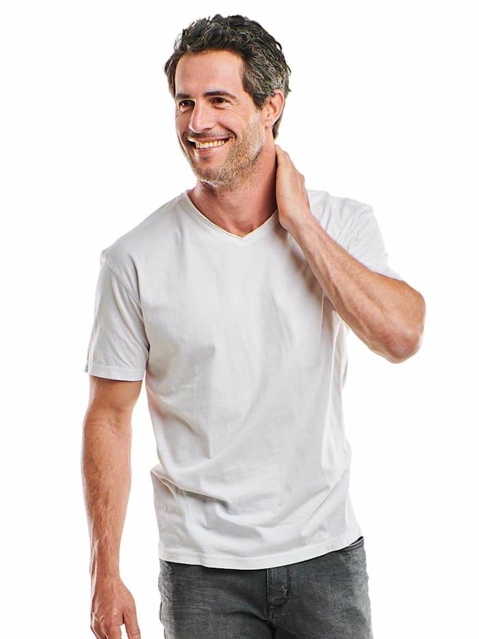 engbers - V-Neck T-Shirt  Reinweiss