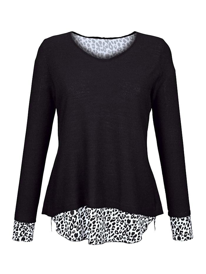 2 in 1 Pullover Paola Schwarz