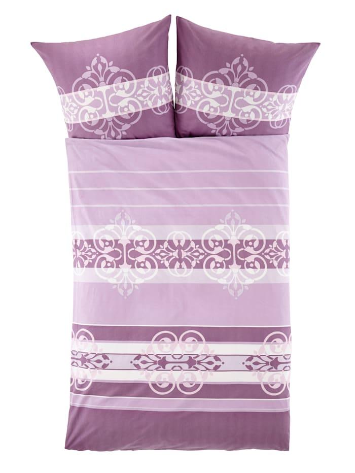 2-delige set bedlinnen Nele Webschatz paars/roze