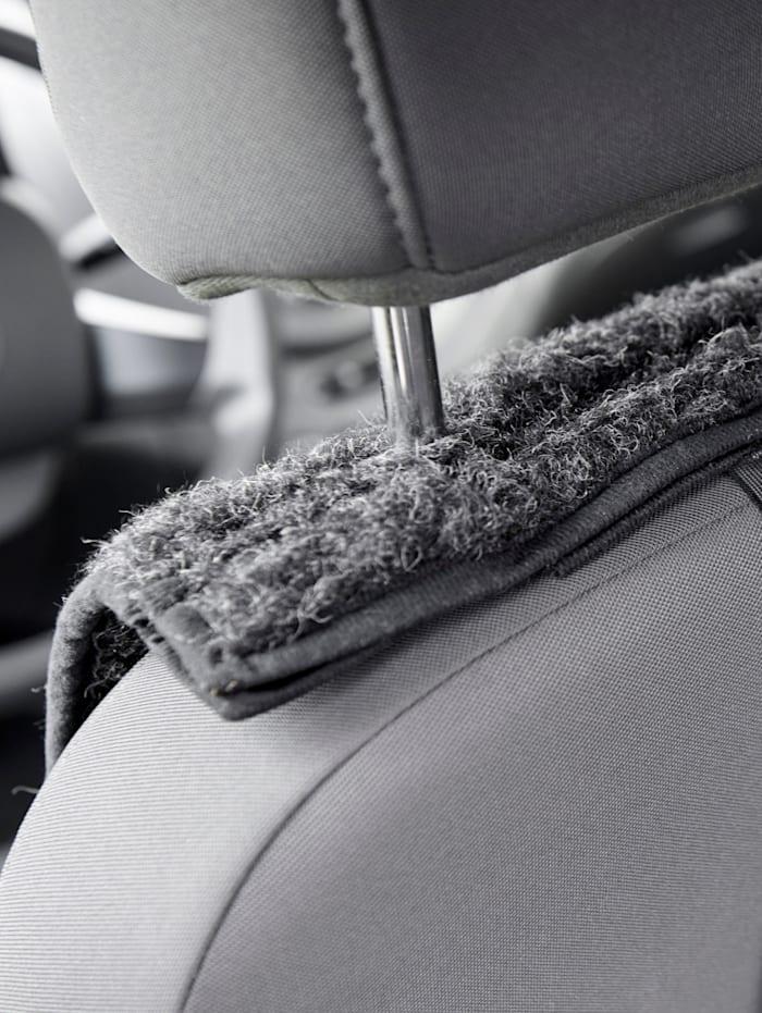 Image of Schurwoll-Autositzauflage K & N Schurwolle anthrazit