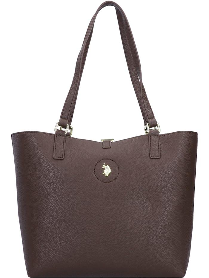 u.s. polo assn. - Rogersville Shopper Tasche mit Wendefunktion 28 cm  brown
