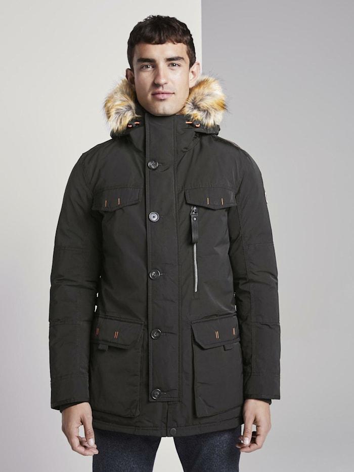 tom tailor - Winterjacke mit Kapuze  Black