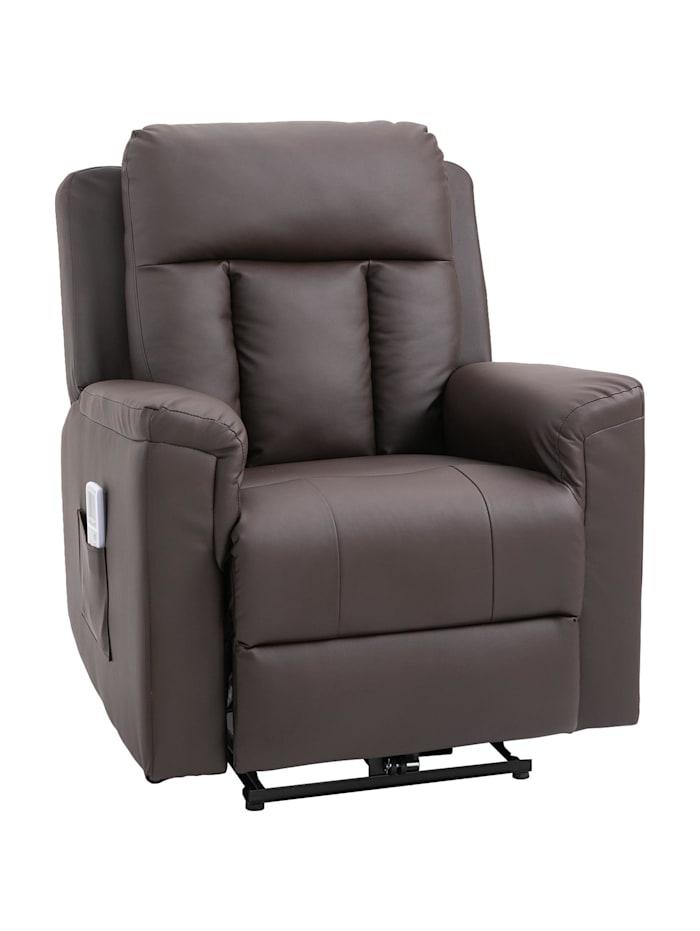 Fernsehsessel mit Massage- und Wärmefunktion HOMCOM braun