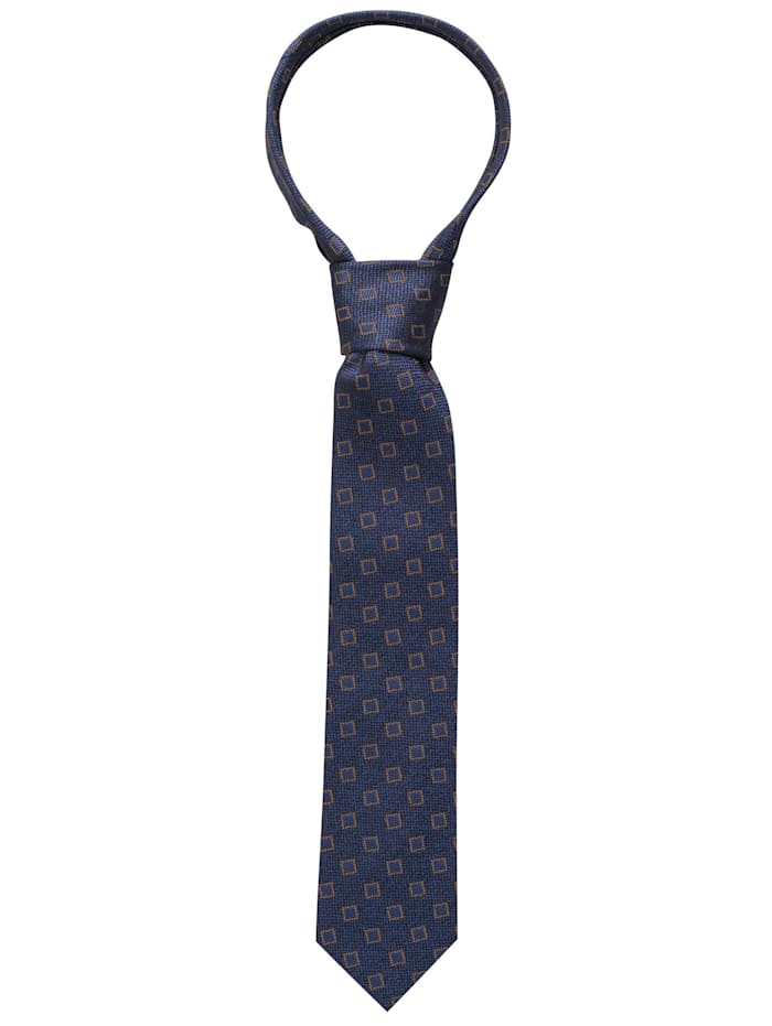 eterna - Krawatte breit kariert  dunkelblau