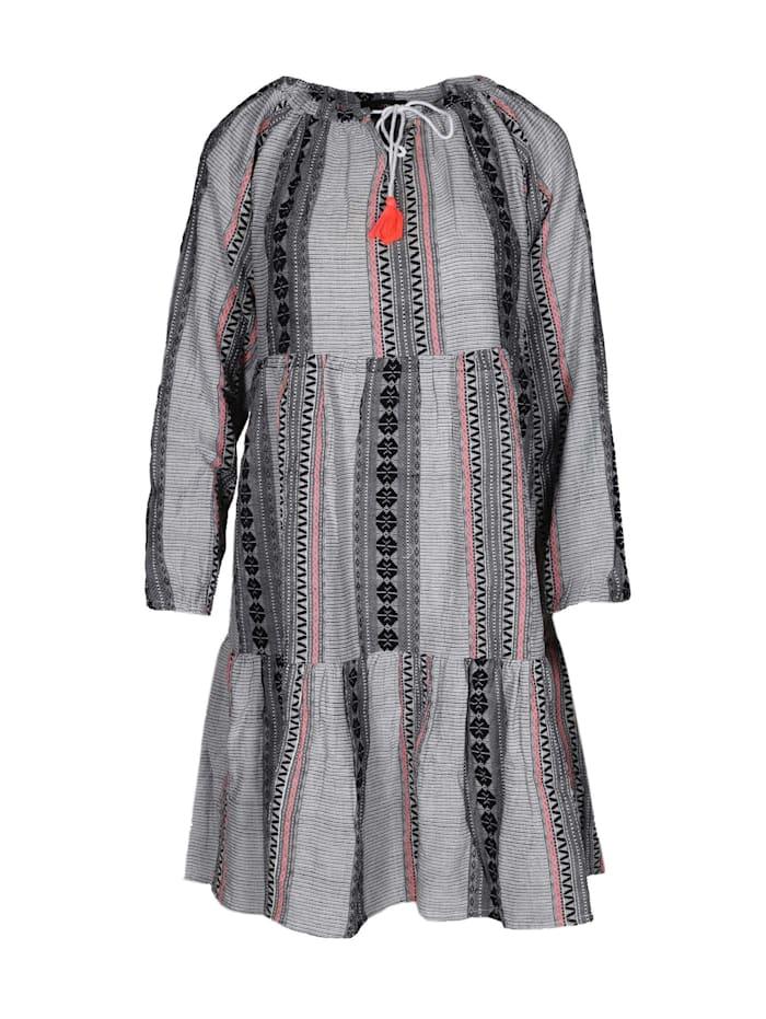 zwillingsherz - Sommerkleid Kleid Marieke  grau/pink