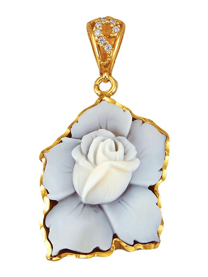 Image of Clip-Anhänger Amara Silber Gelbgoldfarben