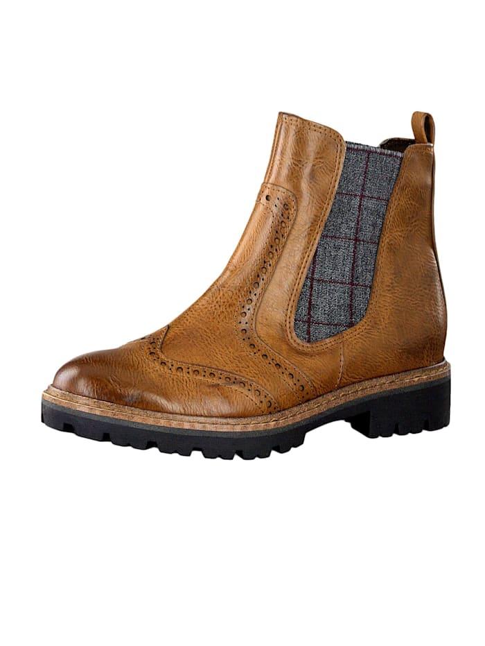 marco tozzi - Damen Stiefelette Ankle Boot Cognac Antic Braun 2-2-25403-33 310  Cognac Antic