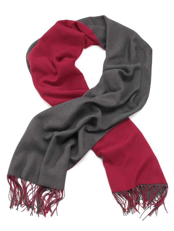 Sjaal Alba Moda rood/grijs