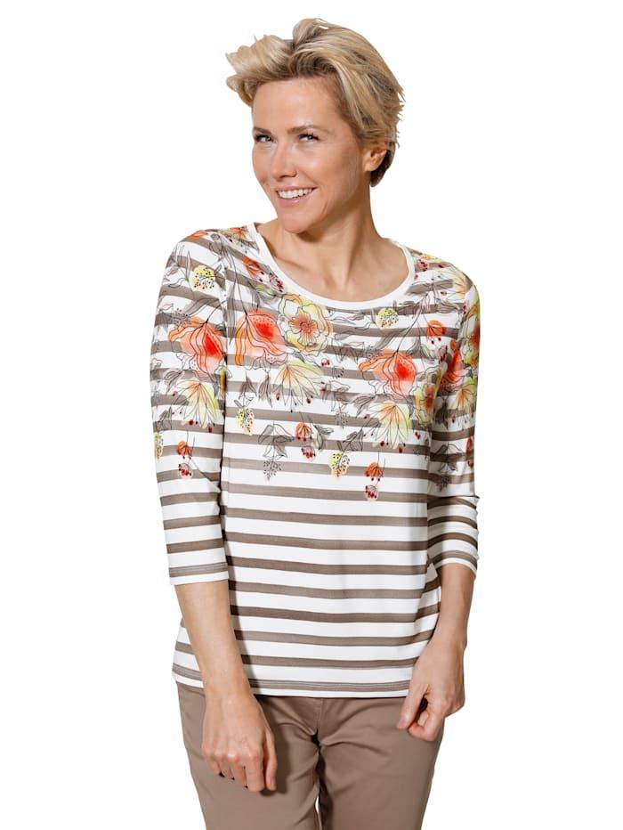 Shirt MONA Ecru::Taupe::Multicolor