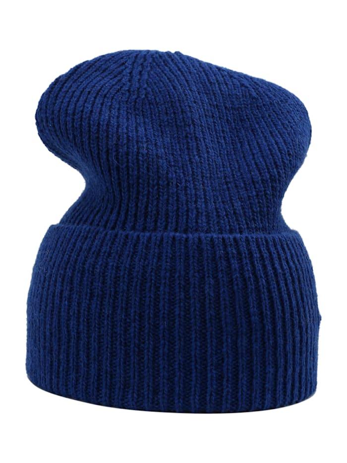 sätila of sweden - Strickmütze Klintås mit breitem Umschlag  meso blue