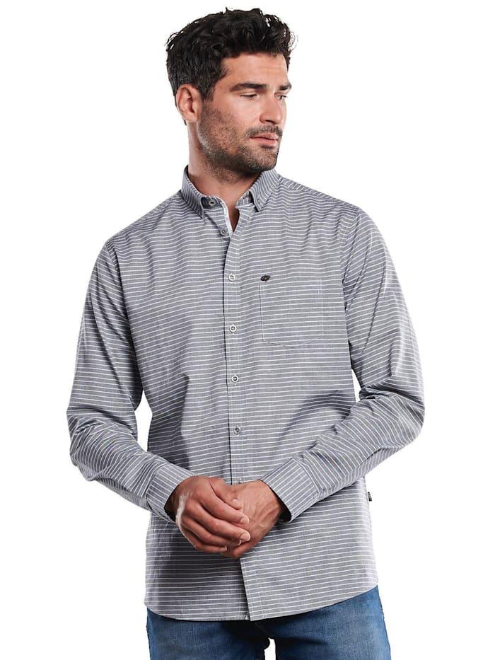 engbers - Langarm-Hemd gestreift  Saphirblau