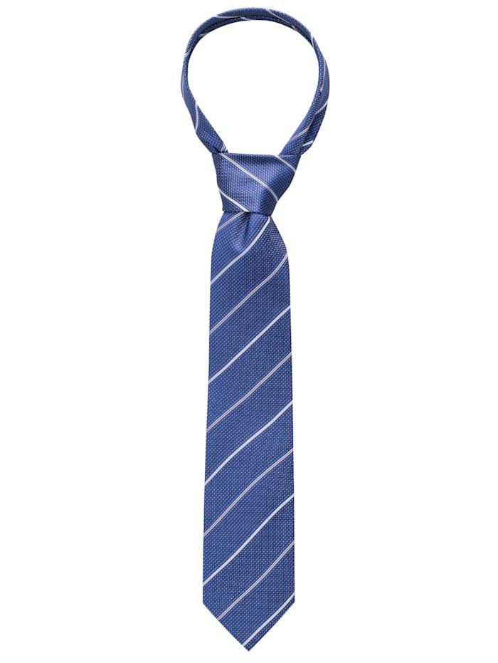 eterna - Krawatte breit gestreift  blau