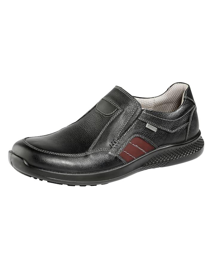 Artikel klicken und genauer betrachten! - Wechselfußbett, Stretcheinsatz. Flacher Absatz. Guten Halt garantiert die profilierte Sohle. Darüber hinaus ist die Sohle gepolstert. TEX-Membrane. Für einen etwas kräftigeren Fuß geschnitten. Diese Schuhe entsprechen dem Größensystem: Europäisch (EU). | im Online Shop kaufen