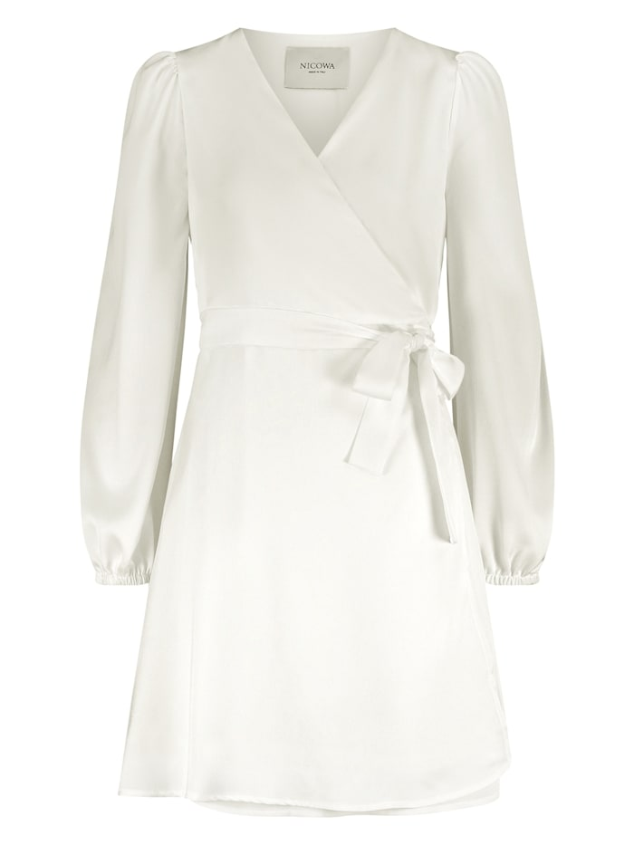 nicowa - Klassisches Wickelkleid mit V-Ausschnitt - VEROWA  WHITE