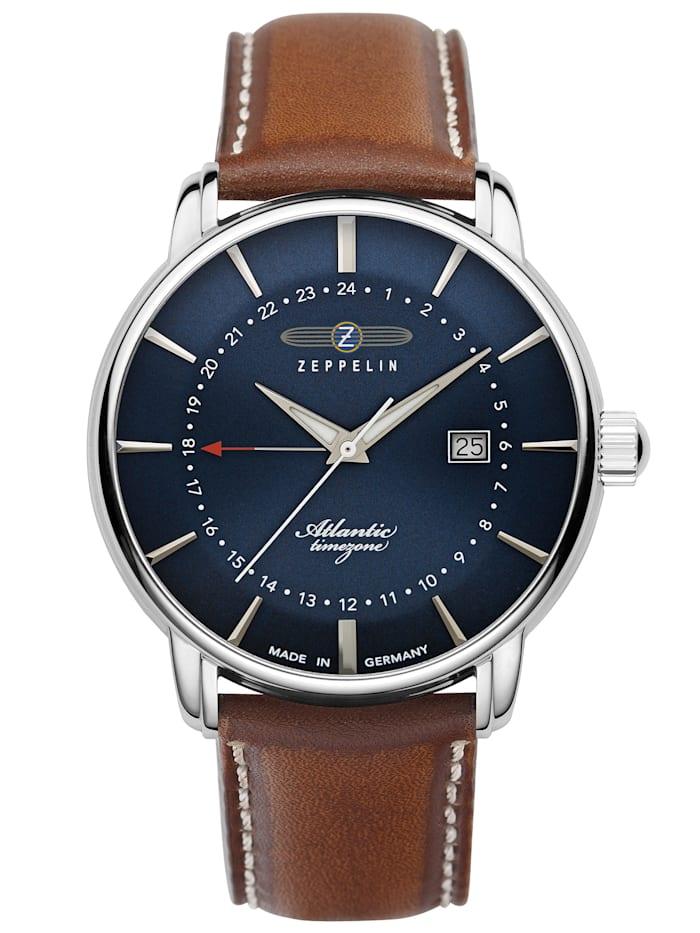 zeppelin - Herren-Armbanduhr Atlantic GMT 8442  blau