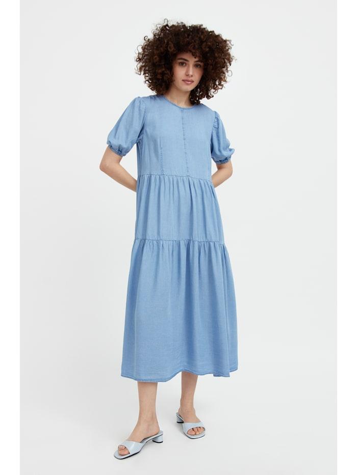 finn flare - Jeanskleid mit ausgestelltem Schnitt  blue