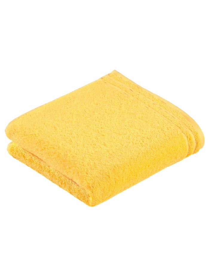 Handdoekenset effen Vossen geel