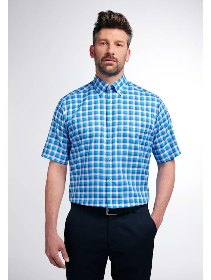 eterna -  Kurzarm Hemd COMFORT FIT  Kurzarm Hemd COMFORT FIT  blau/weiss