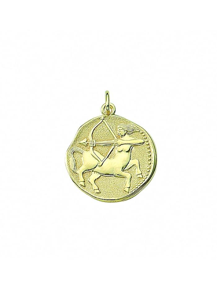 1001 diamonds - Damen & Herren Goldschmuck 333 Gold Sternzeichen Anhänger Schütze Ø 18,2 mm  gold