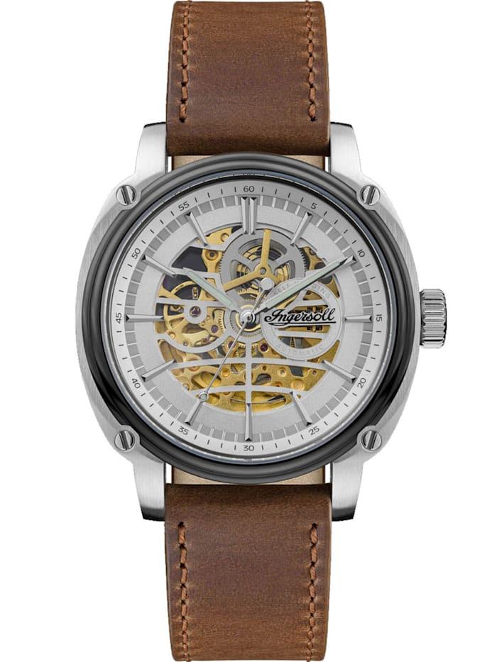 Artikel klicken und genauer betrachten! - traumhafte Armbanduhr für Männer, mechanisches Uhrwerk mit automatischem Aufzug, silberfarben umrahmtes Skelett-Zifferblatt mit Sicht auf das Uhrwerk, lumineszierende Zeiger, polierte Indizes, schwarze Minuterie, zentraler Sekundenzeiger, mattiertes Edelstahlgehäuse, grau ionen-plattiert, Umrahmung aus teils mattem Edelstahl mit Zierschrauben, verschraubter Glas-Gehäuseboden, polierte graue Lünette, geriffelte Krone, kratzunempfindliches Mineralg | im Online Shop kaufen