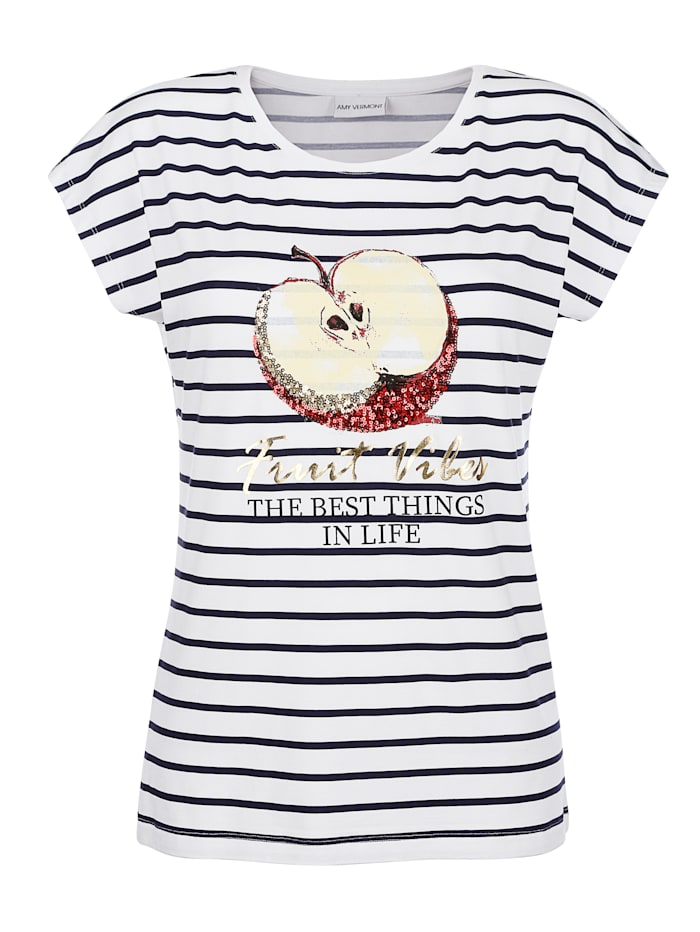 Shirt AMY VERMONT wit/blauw