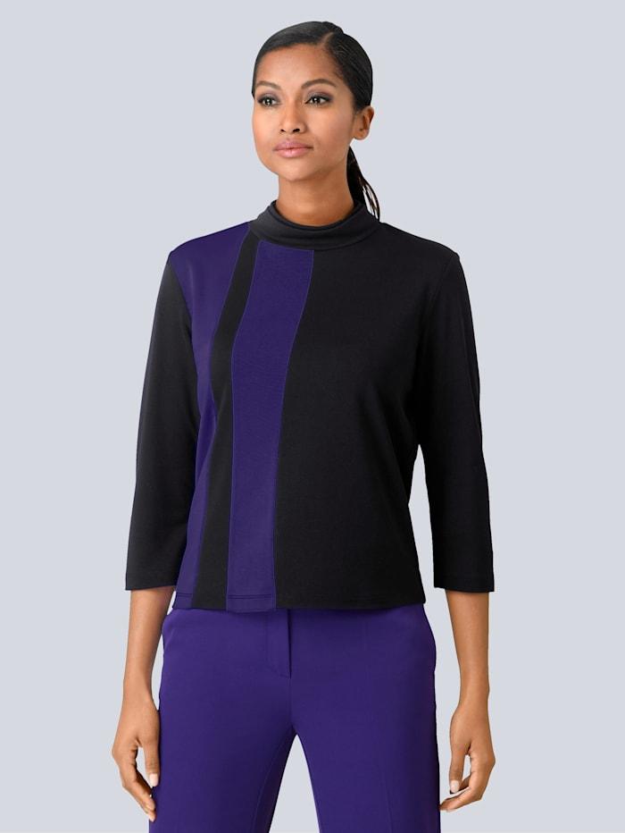 Shirt Alba Moda Zwart::Paars