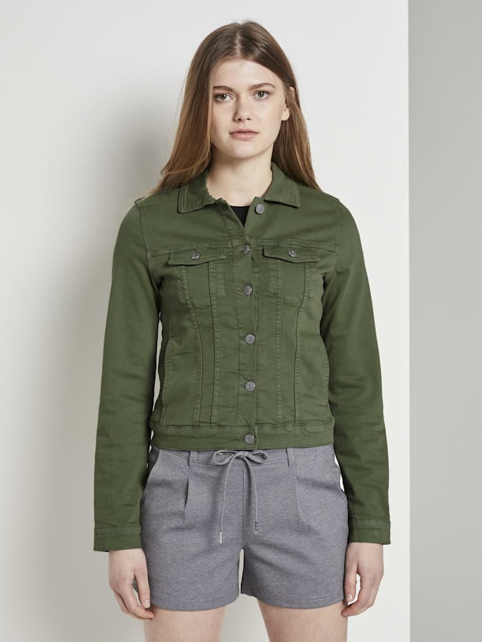 tom tailor denim - Jeansjacke im Slim-Fit  olive green