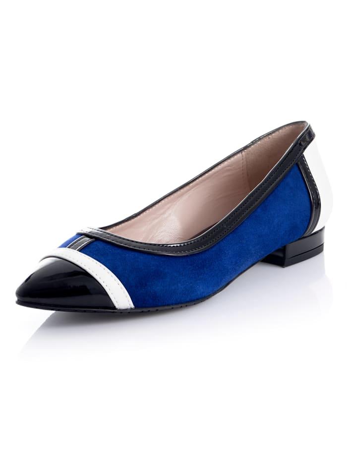 Ballerina Alba Moda Royal blue::Zwart::Wit