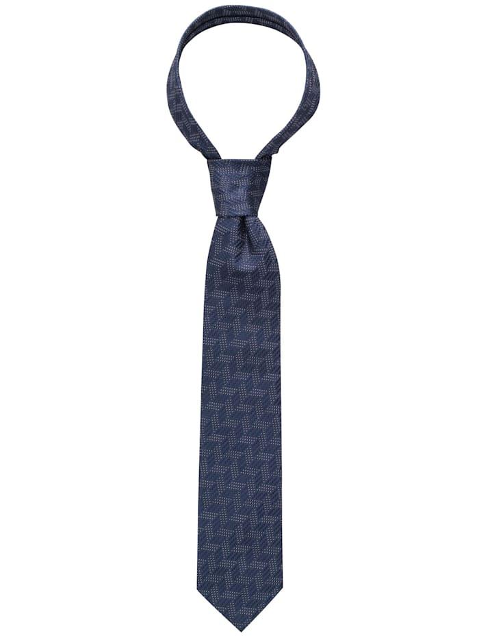 eterna - Krawatte breit strukturiert  dunkelblau