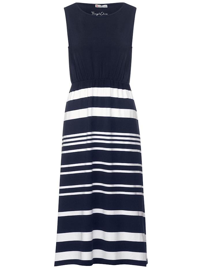street one - Maxi Kleid mit Streifen Mix  dark foggy blue