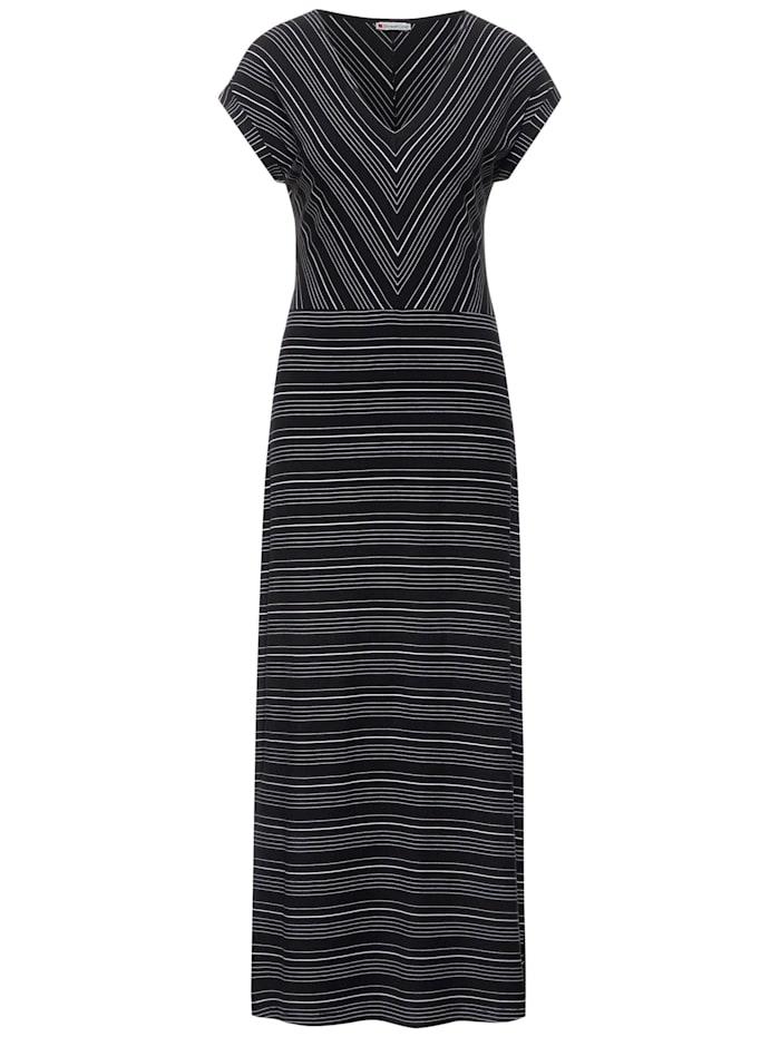 street one - Maxi Kleid im Streifen Mix  Black
