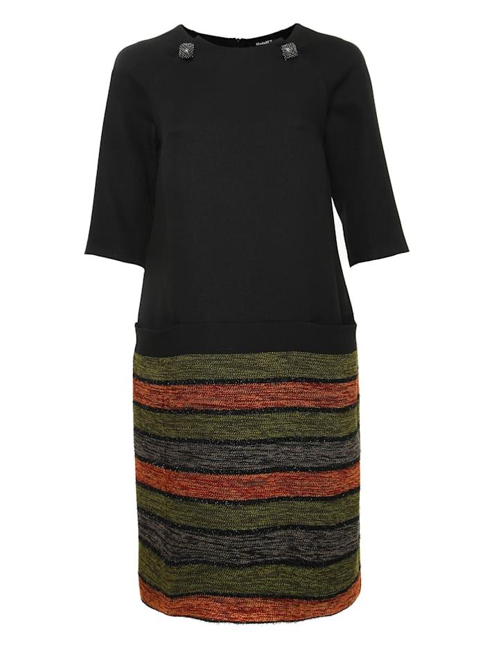 madam-t - Alltagskleid Kleid Ferule  schwarz, orange