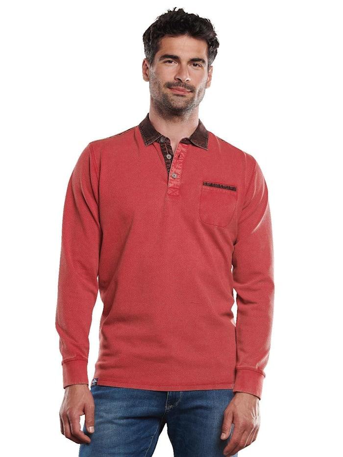 engbers - Polo-Shirt aus Strukturware  Signalrot