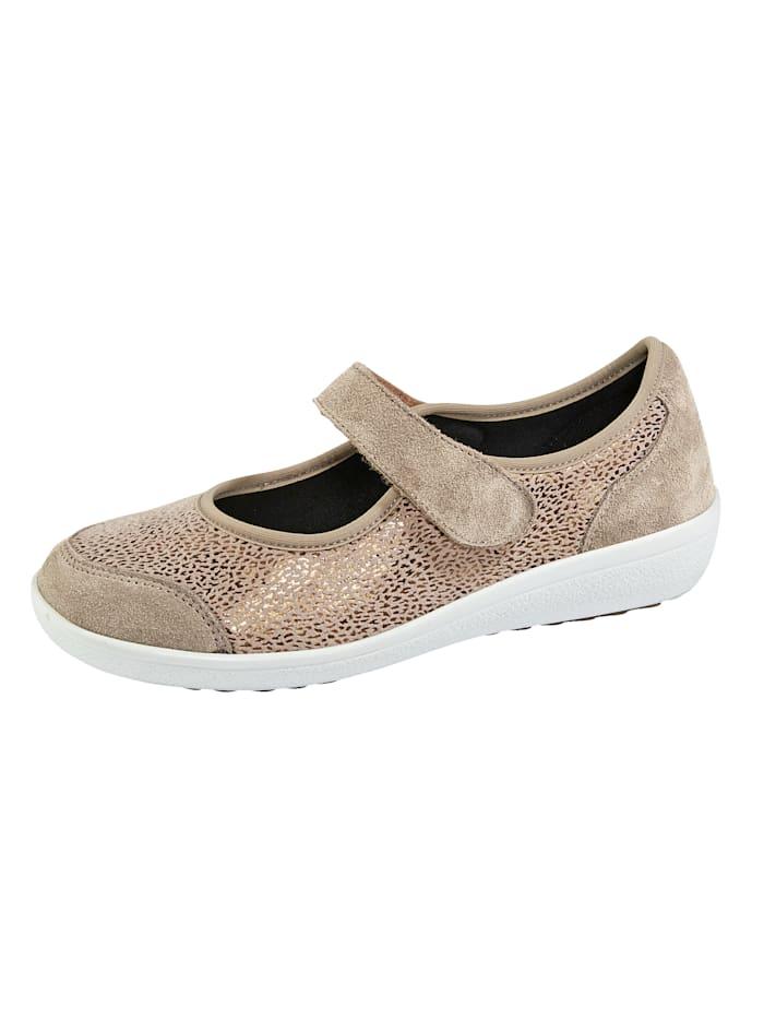 Deze schoen is ideaal bij hallux valgus. platte hak van 3,5 cm. profielzool. de instapper heeft een ...