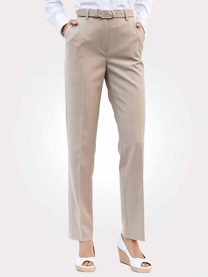 Broek Relaxed by Toni Beige